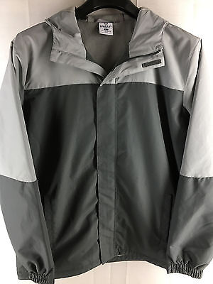 Mens Magellan Outdoors Gray Full-Zip Hoodie Lightweight Snowboard Ski Jacket Xl