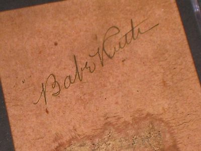 BABE RUTH Signed Red Rock Cola Baseball Card New York Yankees READ LISTING