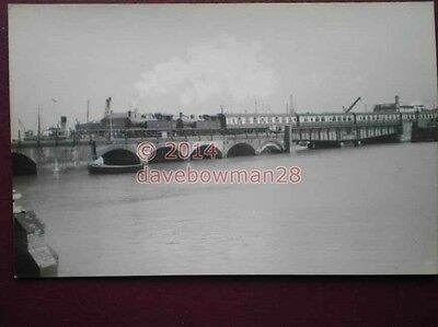 Photo  2 Southern Loco Going Over The Bridge At Folkestone Harbour With Coaches