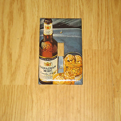 VINTAGE STYLE IMPORTED CANADIAN MIST Whisky Bottle LIGHT SWITCH COVER PLATE #2