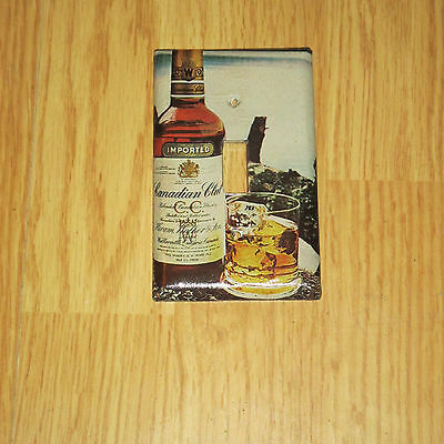 VINTAGE STYLE IMPORTED CANADIAN CLUB Whisky Bottle LIGHT SWITCH COVER PLATE