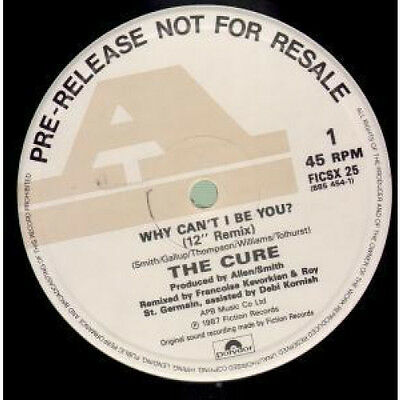 """CURE Why Can't I Be You 12"""" VINYL UK Fiction 1987 2 Track 12"""" Remix Promo B/W A"""