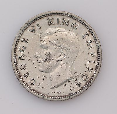 1937 New Zealand One Shilling King George VI *4060
