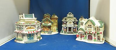 4 Windham Heights Cobblestone Corners 2004 Holiday Christmas House