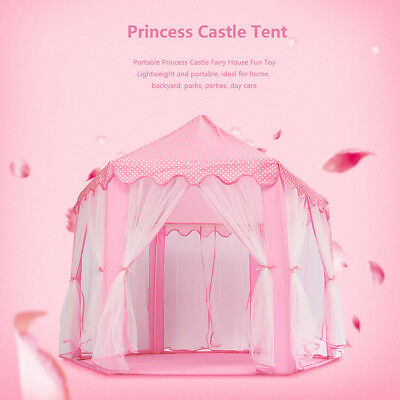 Portable Floding Princess Castle Tent In/Outdoor Kid Children Funny Fairy House