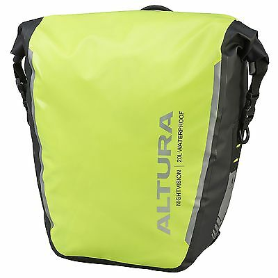 Altura Night Vision 20 Waterproof Road Bike/Cycling/Cycle Pannier Bag