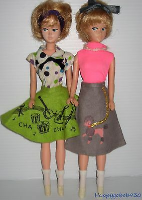 2 Vintage Mary Makeup Doll Dressed For The Sock Hop 1060s DT
