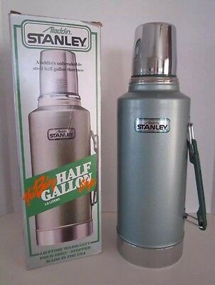 Aladdin Stanley Thermos Steel 1/2 Half Gallon Size Unbreakable Made in USA