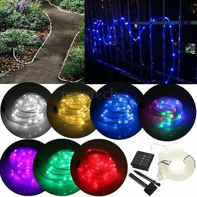 23FT 7m 50 LED Solar Power Garden Rope Lamp Fairy String Light Xmas Waterproof