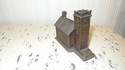 VINTAGE SOUVENIR BUILDING CAST METAL PAPERWEIGHT Little Brown Church