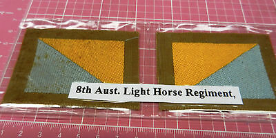 WW 1 8th ALH   A.I.F. colour patchs, pair  ORIGINAL