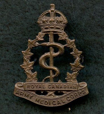 WW2 Royal Canadian Army Medical Corps Badge 43 mm x 31 mm