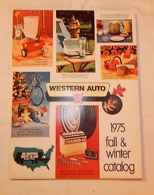 1975 Western Auto Fall & Winter Catalog Toys Pedal Tractors Bicycles AWESOME