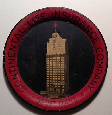 Vintage Continental Life Insurance St. Louis  Tin Tip Tray