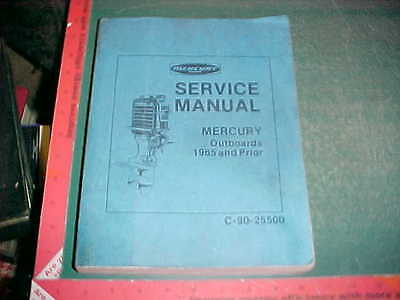 1940 -1965 MERCURY OUTBOARD REPAIR/TUNE MANUAL w/ 8 SECTIONS OF IN-DEPTH SERVICE