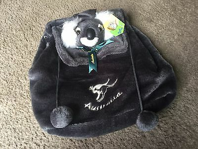Softoi Australian Australia Souvenir Company gray plush koala backpack NWT Cute!