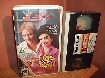 The Disney Channel  ✩ Lots Of Luck ✩ Pre Cert Vhs Video