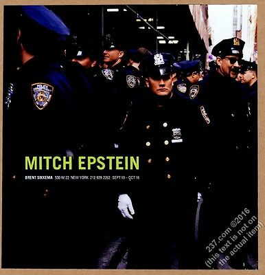 1999 Mitch Epstein NYPD New York Police photo NYC gallery show vintage print ad