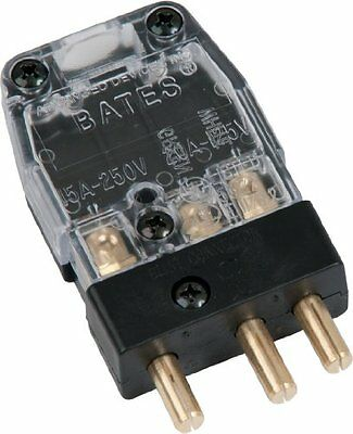 Bates Stage Pin (20A / 125V) Male Inline - Clear (X) Cover