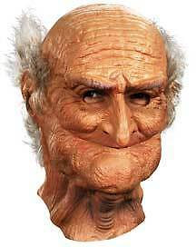 Old Man Adult Mask For Halloween Oldie Grandpa Male Men Costume Creepy Cosplay