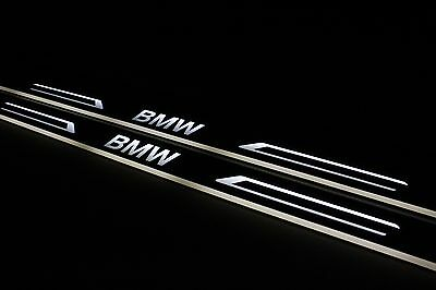 LED Sill For BMW 3 E92 Scuff Door Entry Plate Cover Strips Step Logo Protector