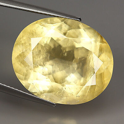 21.97 Ct Natural Ultra Rare Mexico YELLOW CALCITE Oval Gemstone @ See Video !!