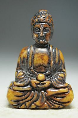 Unique Chinese Old Jade Hand Carved Statue-Buddha K4