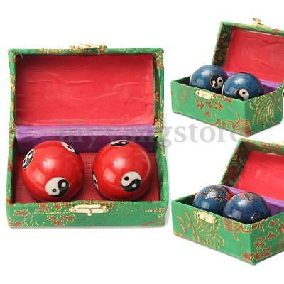 Chinese Health Exercise Stress Baoding Balls Ying Yang Relax Therapy Dragon Case