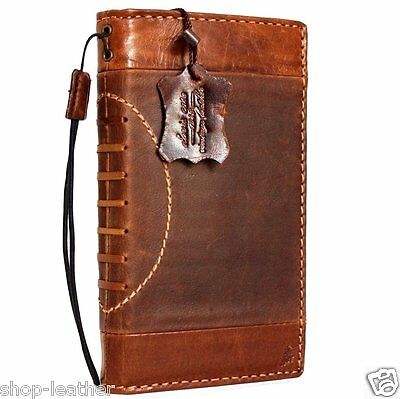 Genuine real leather Case fit apple iphone 6s plus book wallet cover Sport Art