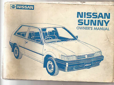 Nissan Sunny Owners Manual 1987. Publication no. OM7E-ON13B1