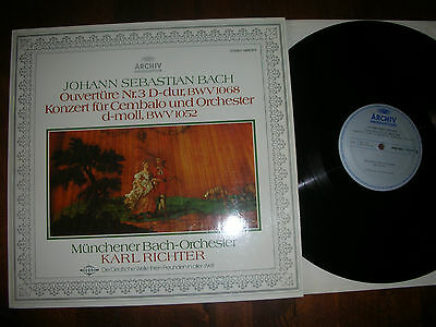 NM BACH Cembalo & Orchester & Ouvertüre RICHTER / BACH ORCHESTER  DGG ARCHIV