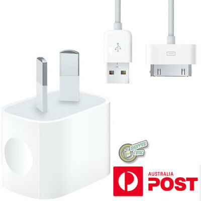 Original Genuine Apple iPod Nano 1st 2nd 3rd 4th AC WALL CHARGER USB Data Cable