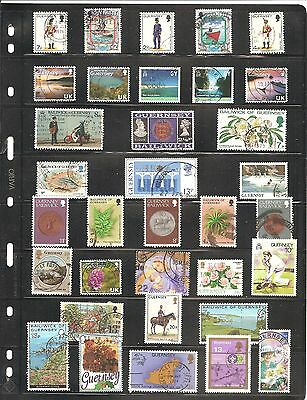 34  Guernsey  Stamp Selection