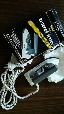 Vintage Retro Korjo travel dry mini iron NIB