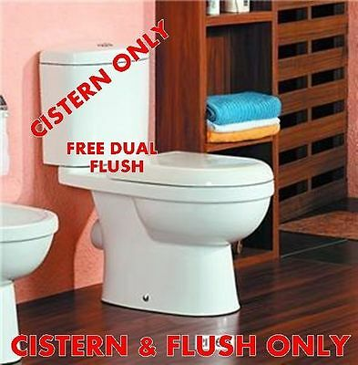 Toilet WC Cistern Only Twin dual flush system & Fittings