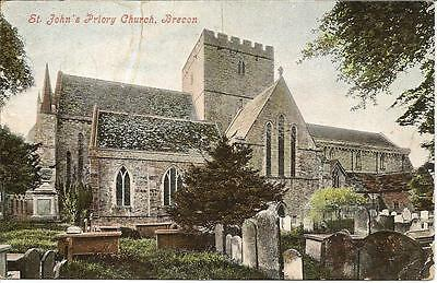 Brecon - St. John's Priory Church - Posted postcard