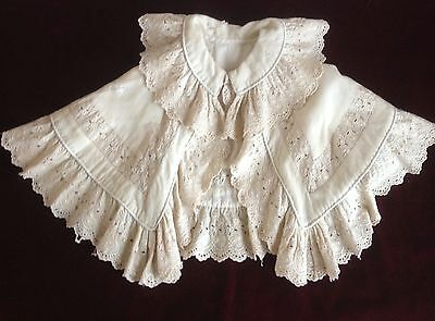 Antique Hand Made Baby's or Doll's Lace  Cape