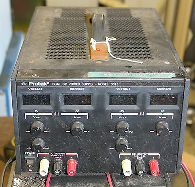 Protek Dual Dc Power Supply Model 3015