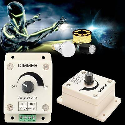 PWM Dimmer Controller LED Light Lamp Strip Adjustable Brightness 12V-24V 8A XN