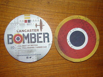 2  Lancaster  Bomber   Beer  Mats / Coasters  New