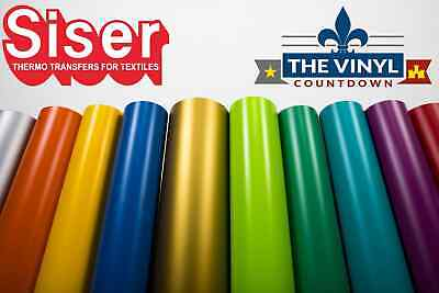 "SISER EasyWeed Heat Transfer Vinyl 15"" x 5ft HTV / 5 Foot Roll / Free Shipping"