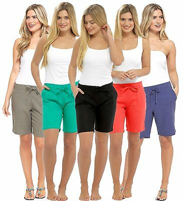 Ladies Casual Linen Shorts Summer Holidays Beach Wear In Sizes 10-18