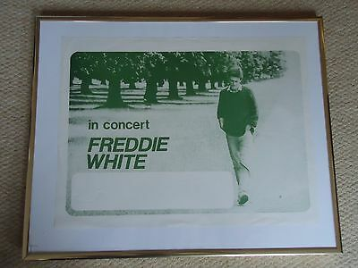 Freddie White Gig Poster1983 Vintage Original 34Yr Old Rare Collectible Scullion