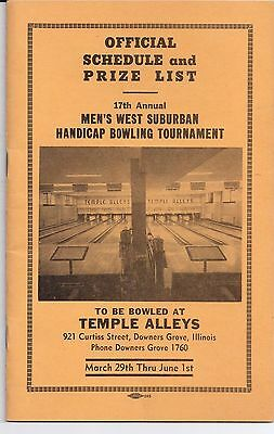 1952 TEMPLE ALLEYS Cutiss Street DOWNERS GROVE Illinois FRED McCLASKEY
