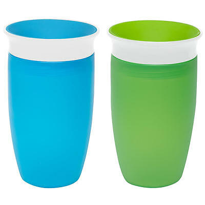 Munchkin Miracle 360 Sippy Cup - 10 Ounce, 2 Pack - Blue/green