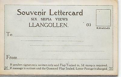Llangollen Letter Card - ( with six views) - Unposted Letter Card