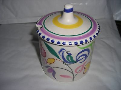 Poole Pottery Jam Pot with top 9cm Tall