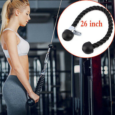 Triceps Pull Rope Handle Attachment Gym Machine Pull Down Cable Sports Equipment