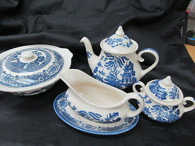 Blue White OLD WILLOW English Ironstone Tableware