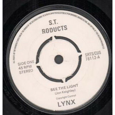 "LYNX (POWERPOP) See The Light 7"" VINYL UK St Roducts 1978 B/W C.I.A."